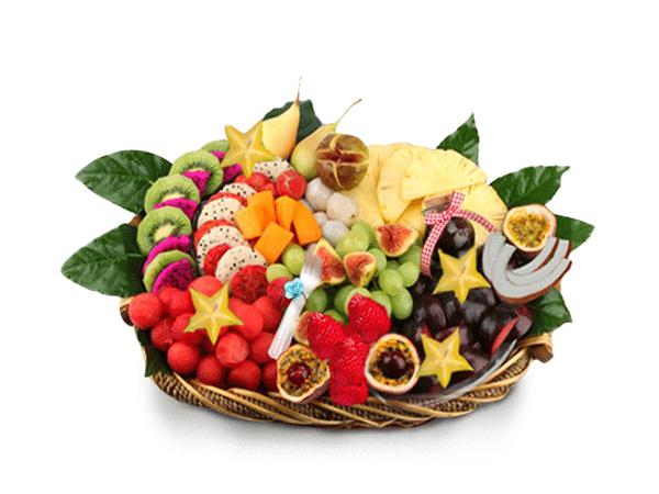סלסלת פירות טרופית